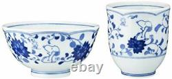 Snoopy Japanese Arabesque Bowl&Japanese Tea Cup Set Peanuts from Japan