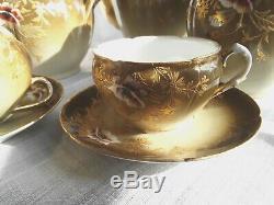 Splendide Tête à tête Porcelaine Charles Field Haviland Limoges Tea Set