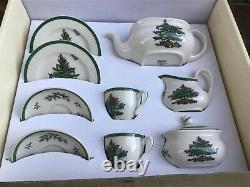 Spode Christmas Tree Childrens Miniature Tea Set 11 Piece Childs Teaset