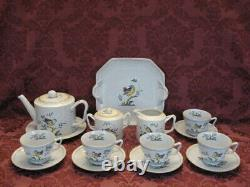 Spode Queen's Bird 15-Piece China Tea Set Excellent