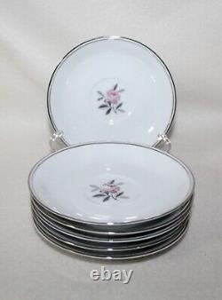 Stunning Noritake ROSALES #5790 17 PIECE ESPRESSO DEMITASSE TEA SET Serves 6