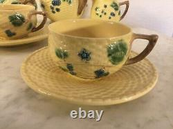 TIFFANY & CO BLACKBERRIES 9 Pcs Tea Set. Embossed. Portugal. Discontinued