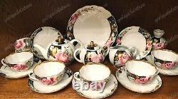 Tea set Rose in the evening garden. Full. USSR. Lomonosov porcelain factory