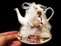Teaware Gracie's Fine China Porcelain 16 Pc Tea Set For 4 Pers- New+bonus