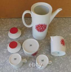 Thomas Rosenthal Porcelain Germany PINWHEEL Coffee/Tea Set MCM Modernist china