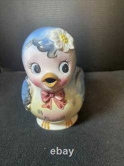 Topline Imports Lefton Bluebird Tea Pot Anthropomorphic Bluebird