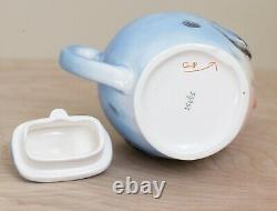 Topline Imports Lefton Bluebird Tea Set/ Rare Anthropomorphic Bluebird Set