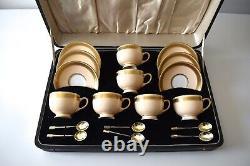 VINTAGE PARAGON BONE CHINA TEA SET 6X CUPS + STERLING SILVER TEA SPOONS @50gms