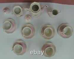 Victorian Era Vintage German Porcelain Childs 17 Piece Tea Set