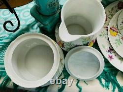 Vintage 1930s Gerard, Dufraisseix & Abbot GDA Limoges French Porcelain Tea Set