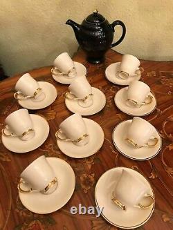 Vintage 1960s. 10 cups 10 saucers Arabia Finland Porcelain Coffee Tea Set
