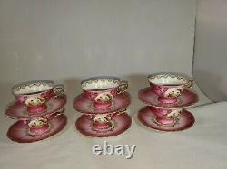 Vintage Demitase Tea Set Gold Trim Bareuther Waldsassen Bavaria Germany Romance