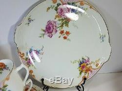 Vintage Epiag Porcelain Czechoslovakia Large Tea Set Floral