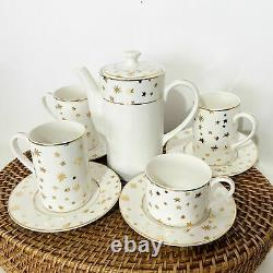 Vintage Galaxy by Sakura Fine Porcelain Gold Stars MISMATCHED Tea Set