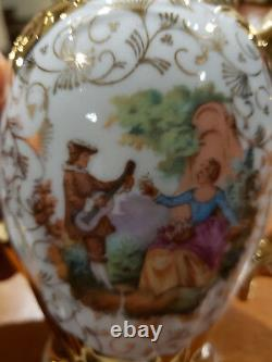 Vintage Golden Fine China Porcelain Coffee/Tea Set Made In GDR Germany Bavaria