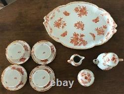 Vintage-Herend 14pc Porcelain Tea Set in Fortuna Pattern (VBOH)