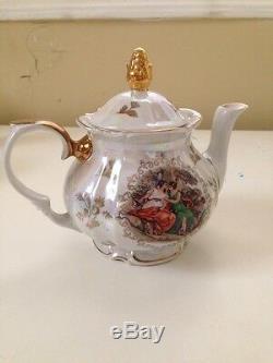 Vintage Kahla Porcelain Fine China Gold Trim Madonna GDR German Tea Set Creamer