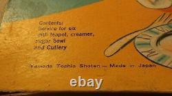 Vintage Mid Century Modern Childs Tea Set Porcalain Japan Shoten Sears F