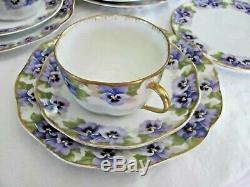 Vintage Rosenthal Bavaria Porcelain Pansy Lilac Viktoria Luise Luncheon Tea Set