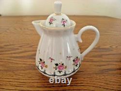 Vintage Russian Lomonosov Bone Porcelain 18 Piece 22 carat Tea Set