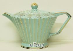 Vintage SADLER Tea Set Teapot Sugar Creamer Pot Shabby High Tea English Aqua