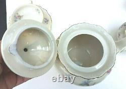 Vintage Seltmann Weiden Bavaria Porcelain Tea set 26 pieces Theresia guild edges