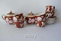 Vintage Soviet Verbilki Bone China Tea USSR Porcelain Coffee Set 14 Pc