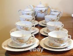 Vintage Tea Service Eggshell Porcelain -lithophane Geisha