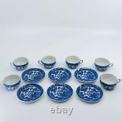 Vintage Toy Tea Set in box Porcelain Blue Willow Pattern Made in Japan Complete