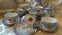 Vintage Veritable 27 Pieces Set Coffee Tea Set Porcelain Made In Italy
