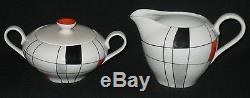 Vintage Wawel Porcelain Pottery Tea Set 15 Pc Poland Post 1970 Teapot 6 C/s S&c