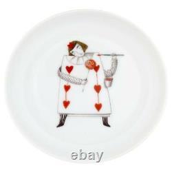 Vista Alegre Porcelain Tea With Alice Set Small Cake Stand & 4 Plates