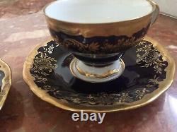 Weimar Katharina Cobalt Blue Gold (20003) Tea /Coffee Set for 12