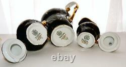 Weimar Katharina Tea Coffee Set Cobalt Blue Gold Coffee Pot Cups Saucers Sugar