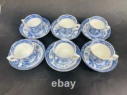 Wood & Sons Childs Blue Transferware Tea Set Charles Allerton May 753, 1880