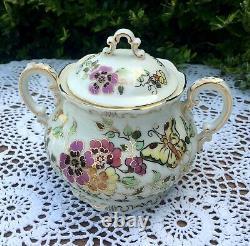 Zsolnay Hand Painted Porcelain Floral Tea Set